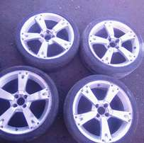 17 rims 4x100 fit most cars R2000