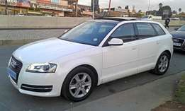 White Audi A3 1.6 Tdi S Stronic Still In Good Condition For Sale