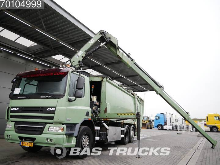 DAF CF75.250 6X2 Kran Crane Euro 5 Hiab 144 ES-3 HiPro - 2008