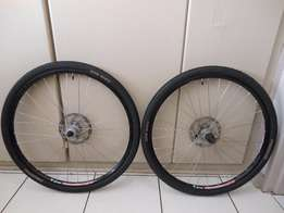 "26"" mtb wheelset with disc rotors"