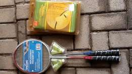 Badminton racquets and nets set