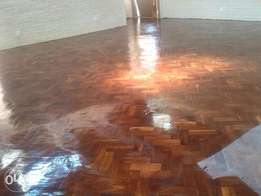 Services in wooden floors