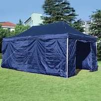heavy duty pop up gazebos with sides zip doors pegs ropes and bag 3x6m