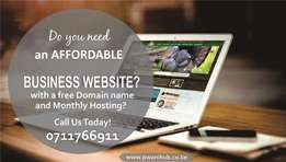 Web Design, Domain and Hosting at Ksh 3,500