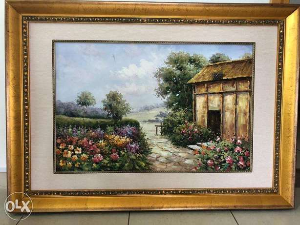 Wall Paintings with Gold Wooden Frame (1+2)