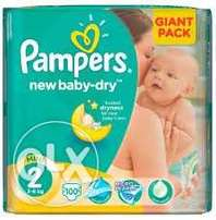 Size 2 pampers nappies(108)