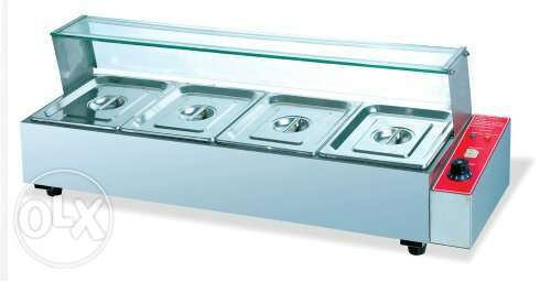 Hot keeping food machine with heater 5pan