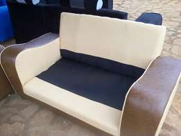 Cream and coffee brown UK quality leather sofa sets