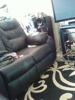 Selling my New Recliner Black Leather Sofas