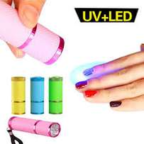 Portable Mini LED Gel Nail Dryer UV Light Lamp Flashlight Nail Art