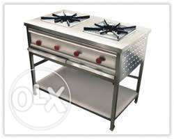 Two Barner gas cooker stain less steel