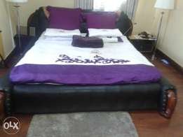 A king size leather bed
