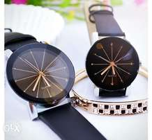 Convex Strap Leather Watch for men and women of class