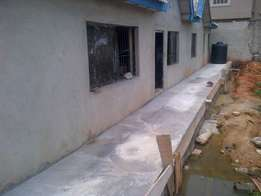 NEW bungalow 3 brm flat on a plot at Ago Palace,Isolo,Lagos N22m