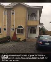 4 bedroom semi detached duplex at Inoyo Haven estate for Lease