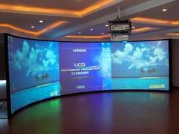Giant Projection Screens for hire, Presentations & Sales.