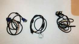 VGA Cable/HDMI to DVI/Power cord for PS2/3/4 (R50 each)