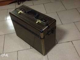 Gold colour fireproof case/box for valuables (7,500 naira)