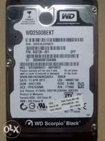 Hard disk 250gb for laptop