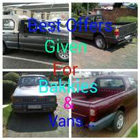 Deals for your accident damaged bakkies. Sell to me