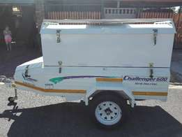 Challenger 600 6FT trailer with extension to fit Bar fridge upright