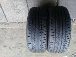 2xgoodsyear runflat tyres 225/45/18