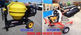 Cement and concrete mixer for sale