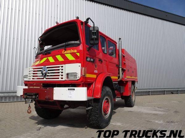Renault M180 Midliner 4x4 fire brigade - brandweer - watertank 25... - 1997