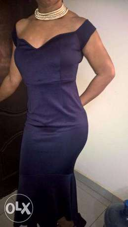GORGEOUS Purple Large STRETCH Gown size 12-14 Wuse 2 - image 1