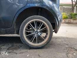 16 inch ex Japan rims and low profile tyres for sale