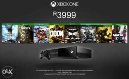 Pre-owned xbox one (500gb) + 8 games