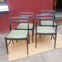 John Tabraham, Mid-century chairs, dining set of 4, great condition