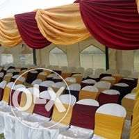 available tents,tables,chairs and decor