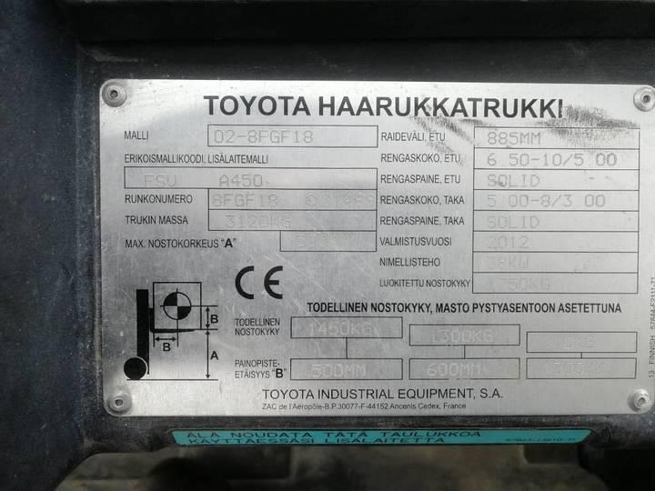 Toyota 8 Fg F 18 - 2012