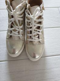 f2e5e92d Sneakersy koturny złote baldaccini skora naturalna rozmiar 39