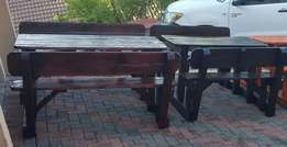 4 seater and 6 seater benches with backrest for sale