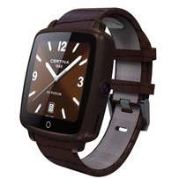 Leather Bluetooth Smart Watch Support SIM Card For Android & Ios