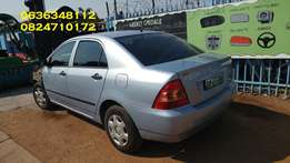 Toyota Corolla 2008 stripping 4 spares