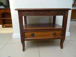 Side Table With Drawer in Kiaat