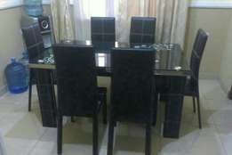 095 dining table for 6 setter black