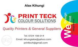 We design and we print at printteck where quality imaje matters.