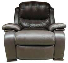 4x Brown Leather Armchair Recliner Lazy Boy