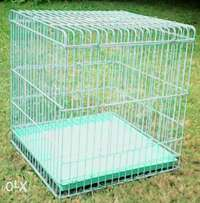 Multi purpose bird/pet cage, 38x38x42cm. Bottom grid with tray.
