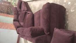 Brown sofa with fiber available now