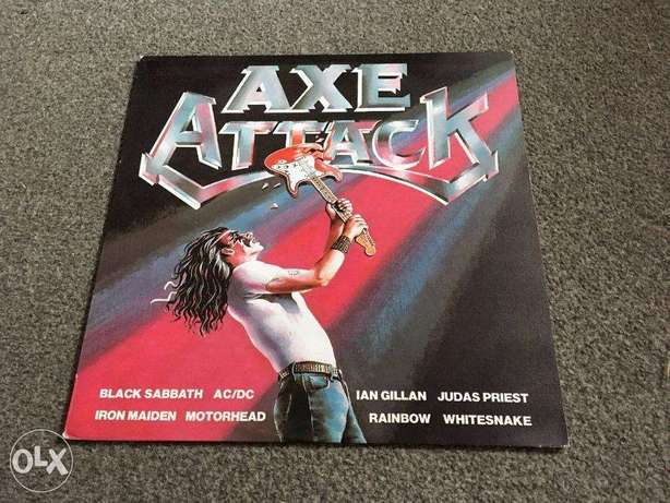 AXE ATTACK rock hits vinyl lp