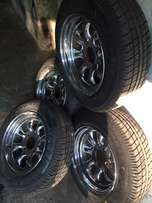 cyclone mags. rand new tires 114 pcd 13f ford mazda nissan