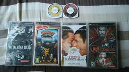 3 psp games and 1 psp movie