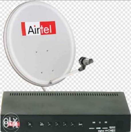 New Available Airtel hd receiver with 6months malyalam tamil telgu ka