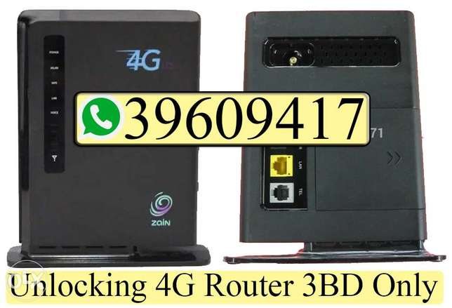 We do Unlocking Zain 4G Router