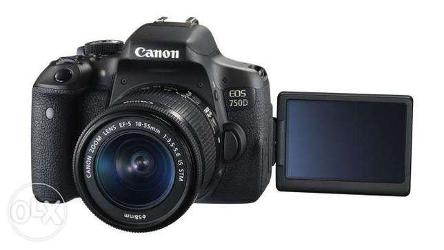 Canon EOS 750D Touch screen DSLR Camera with 18-55mm Lens brand new Nairobi CBD - image 4